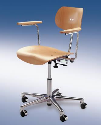 b rostuhl drehstuhl stuhl s197ar buche natur egon eiermann wilde spieth neu ebay. Black Bedroom Furniture Sets. Home Design Ideas